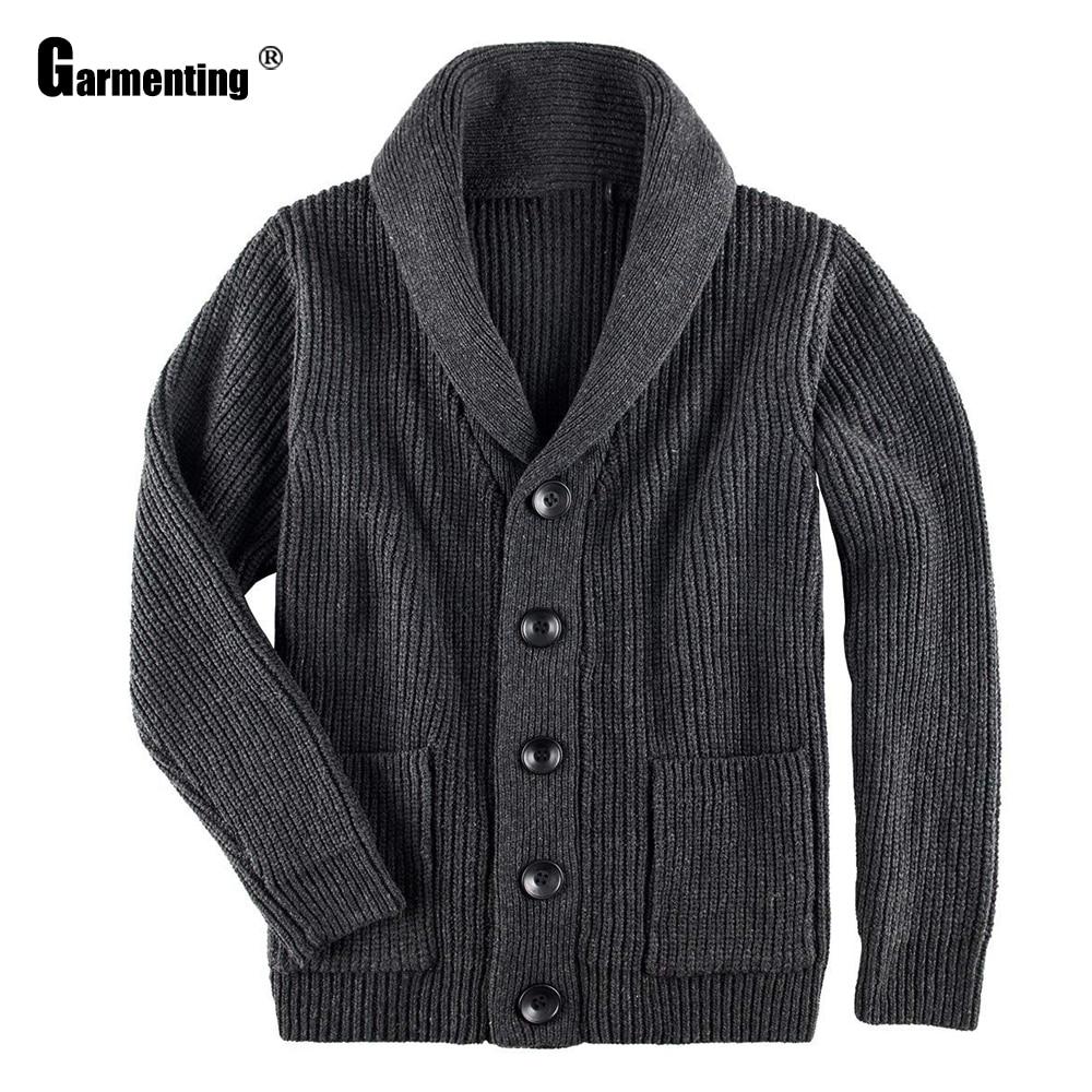Garmenting мужские Свитер с длинными рукавами кардиганы Повседневный Топ masculinas homme ropa однобортный вязаный свитер, одежда для мальчиков