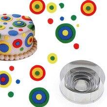 Cake Cookie Mould Cutter Ronde Cirkel Vorm Roestvrij Staal Diy Fondant Schimmel Gereedschappen MU8669