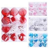 Decorations de noel 8cm 12 pieces ensemble de boules de noel transparentes  decoration darbre de noel pour la maison