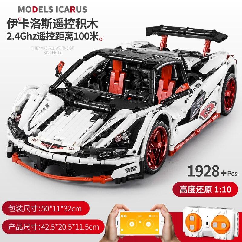McLaren P1 série technique la MOC-16915 vitesse ensemble de voiture App RC moteur modèle blocs de construction briques compatibles avec les jouets de bricolage lepined