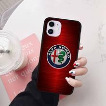 Wumeiyuan Super Auto Alfa Romeo Logo fall coque fundas für iphone 11 PRO MAX X XS XR 4S 5S 6S 7 8 PLUS SE 2020 fällen abdeckung