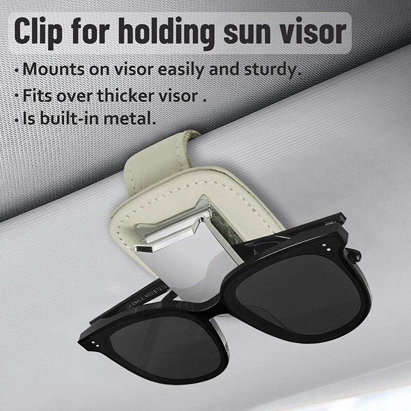 Портативный Автомобильный Чехол для очков, зажим для солнцезащитных очков, держатель для карт, билетов, зажим, автомобильный чехол для солн...