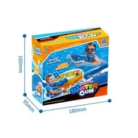 inflatable animal hybrid water blaster in the fun shape of a motorboat swimming floatinflatable hammer function