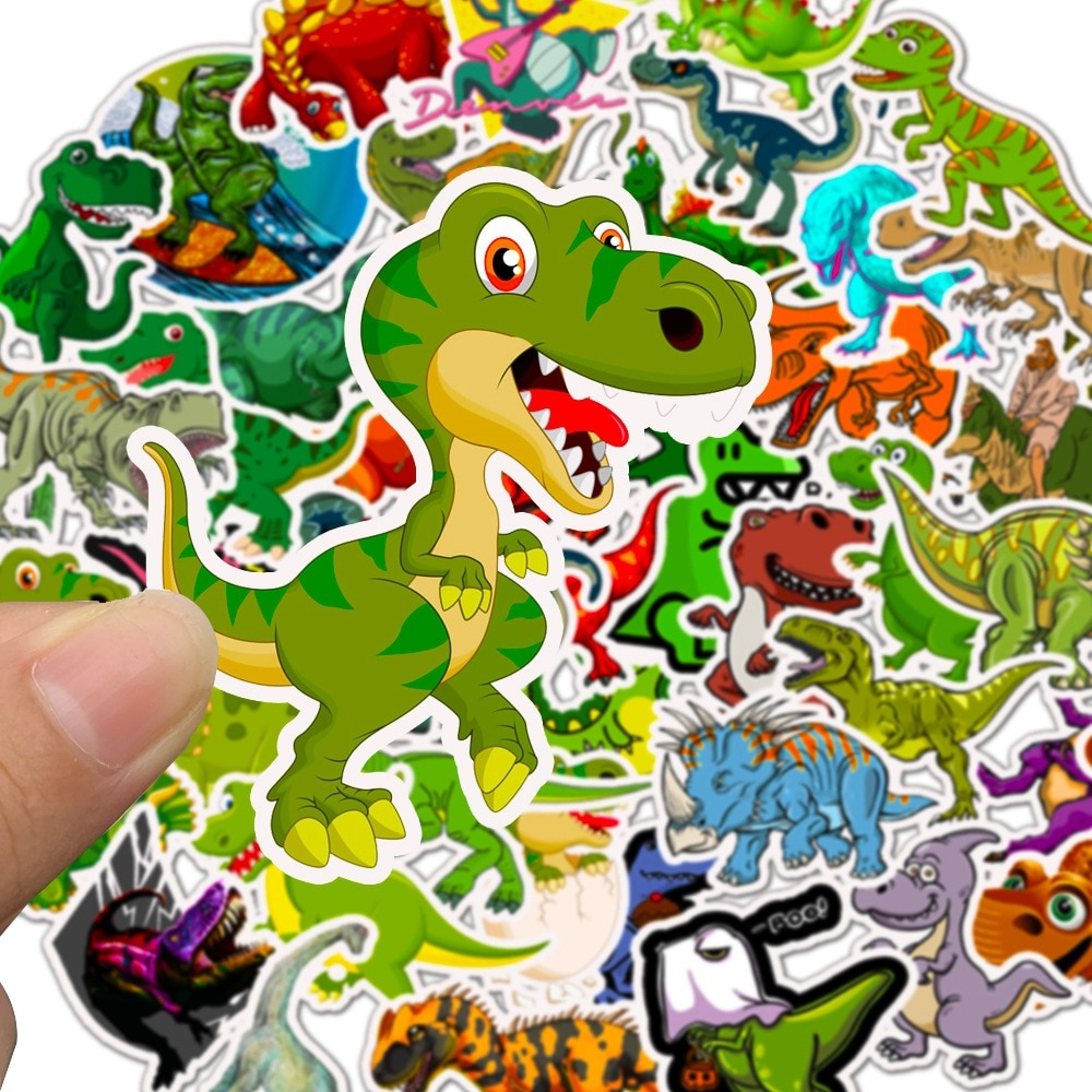 50 teile/satz Tier Dinosaurier Aufkleber Spielzeug Kinder Wasserdichte Aufkleber Zu DIY Aufkleber auf Laptop Skateboard Gepäck Aufkleber