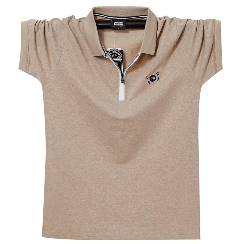 Плюс 6XL 5XL XXXXL летние мужские поло рубашки для мальчиков хлопковые рубашки с короткими рукавами вышитые рубашки больших размеров Мужская рубашка поло, футболки