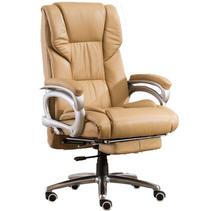 Poltrona-كرسي ألعاب مريح مع مسند للقدمين ، أثاث مكتبي ، جلد صناعي ، كمبيوتر محمول