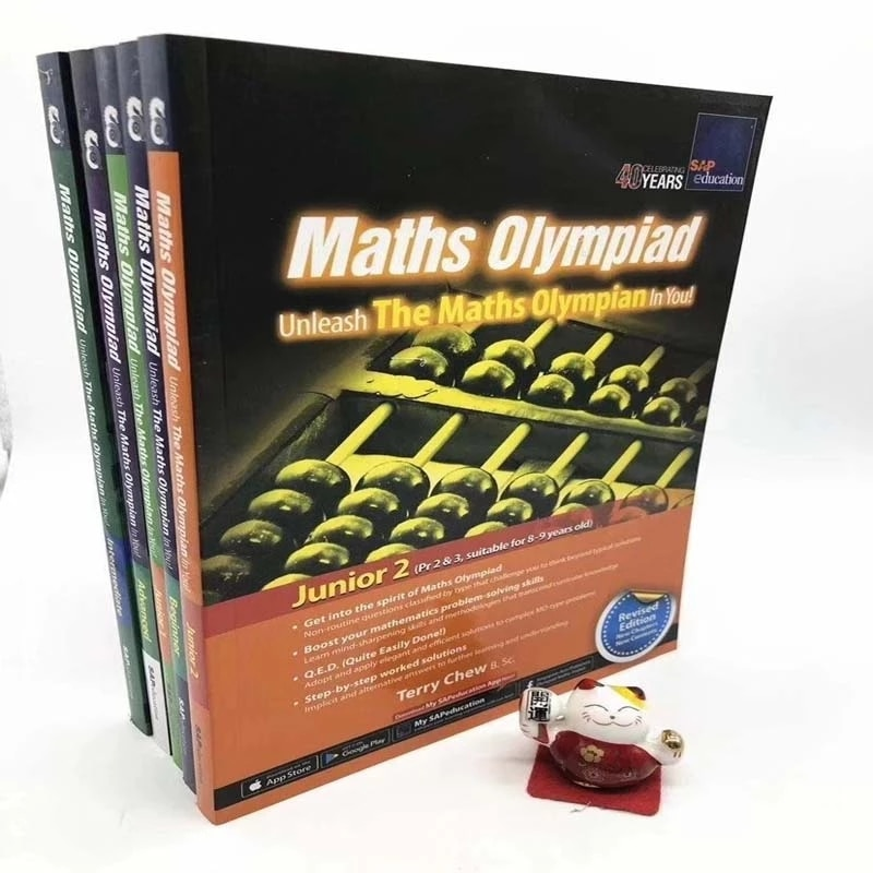 SAP Maths Olympiad Primary School Mathematical Thinking Training Exercise 5 Books English Math Questions Children's Intelligence