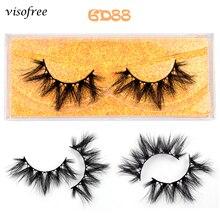 Visofree Eyelashes 100% Handmade Natural Thick Eye Lashes Long Makeup Extention Tools 3D Mink Hair V