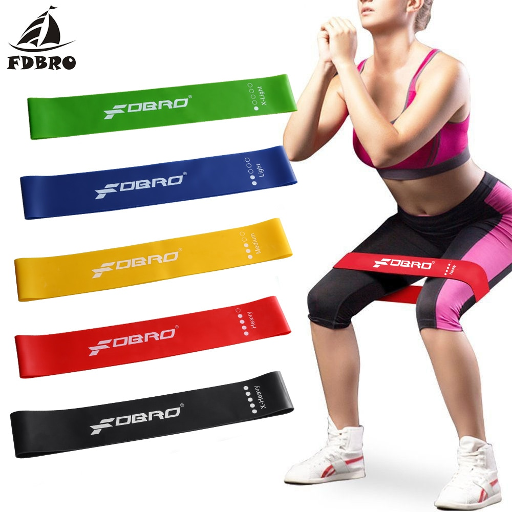 Fdbro yoga resistência banda de borracha esporte treinamento bandas elásticas workout loops látex yoga ginásio força atlético equipamentos de fitness