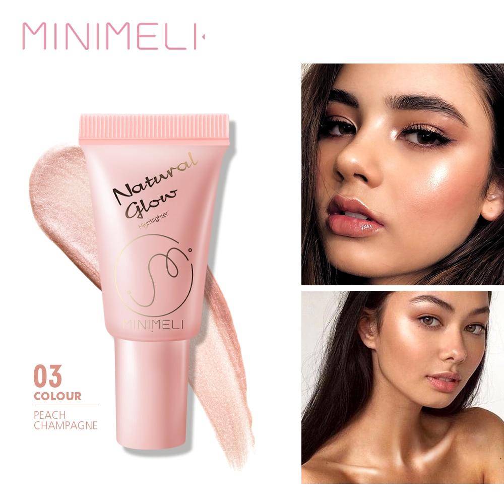 MINIMELI Liquid Highlighter Makeup Illuminating Shimmer Beauty Bronzer Highly Pigment Face Highlight Make up 4 Colors недорого