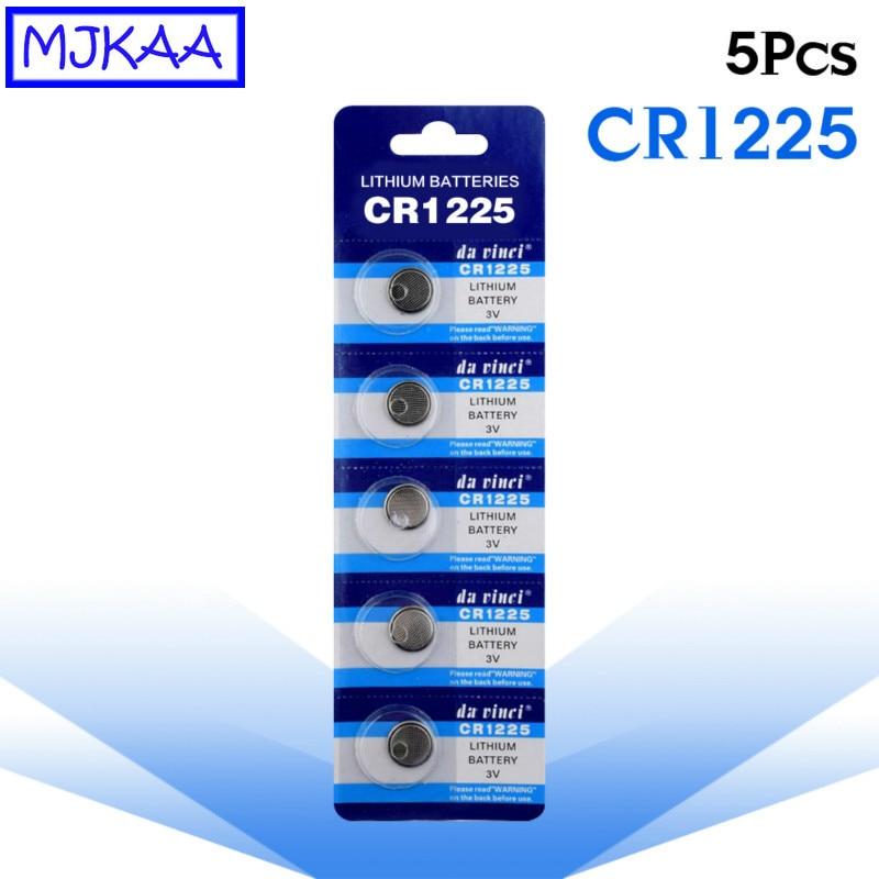 5Pcs CR1225 3V Bateria De Lítio Botão LM1225 BR1225 ECR1225 CR1225 KCR1225 Bateria de Célula Tipo Moeda para Relógios Relógio de Longa Duração