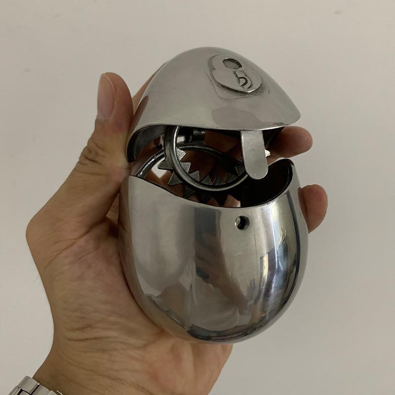 جهاز جديد لقفل العفة من الفولاذ المقاوم للصدأ ، جهاز اقفال القضيب ، جهاز اقفال القضيب ، جهاز اقفال الخصية ، معدات العاب جنسية BDSM