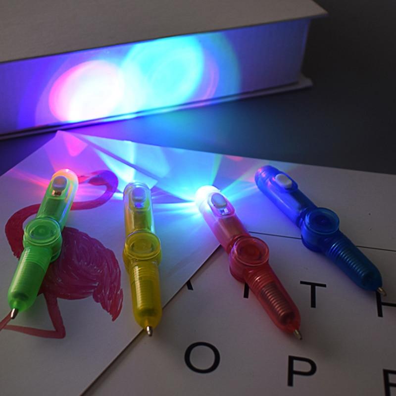 1 PCS Interesting toy Fingertip Rotating spinner Gyro toy Pen Led Luminous Gyro Pen Office ADHD EDC Anti Stress kinetic desk toy