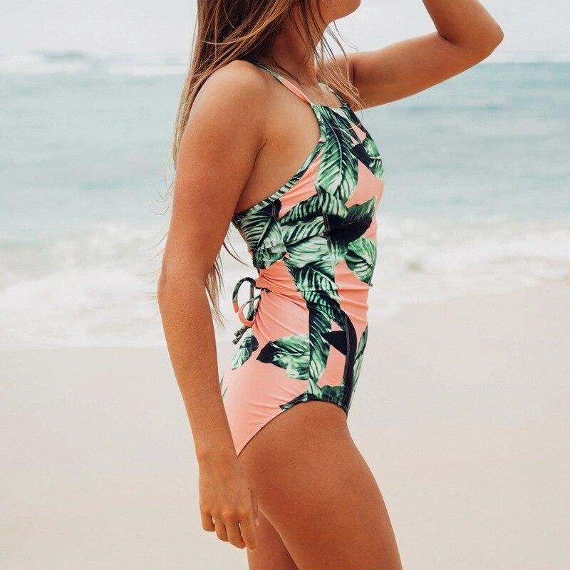 2020 Fashion Print women swimwear two pieces monokini one piece swimsuit girls one piece swimsuit