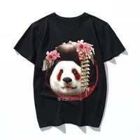 geisha panda cotton printed men t shirt casual short sleeves mens t shirt casual o neck summer tshirt tee shirt