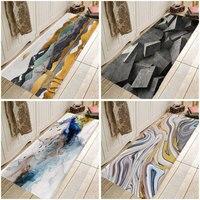 Concise abstract Carpet Kitchen Entrance Door Mat Anti-slip Floor Rug Bathroom Area Hallway Concise Floor Tile Design