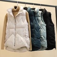 autumn winter new style cotton vest women korean loose casual cotton waistcoat sleeveless jacket vest casaco feminino inverno