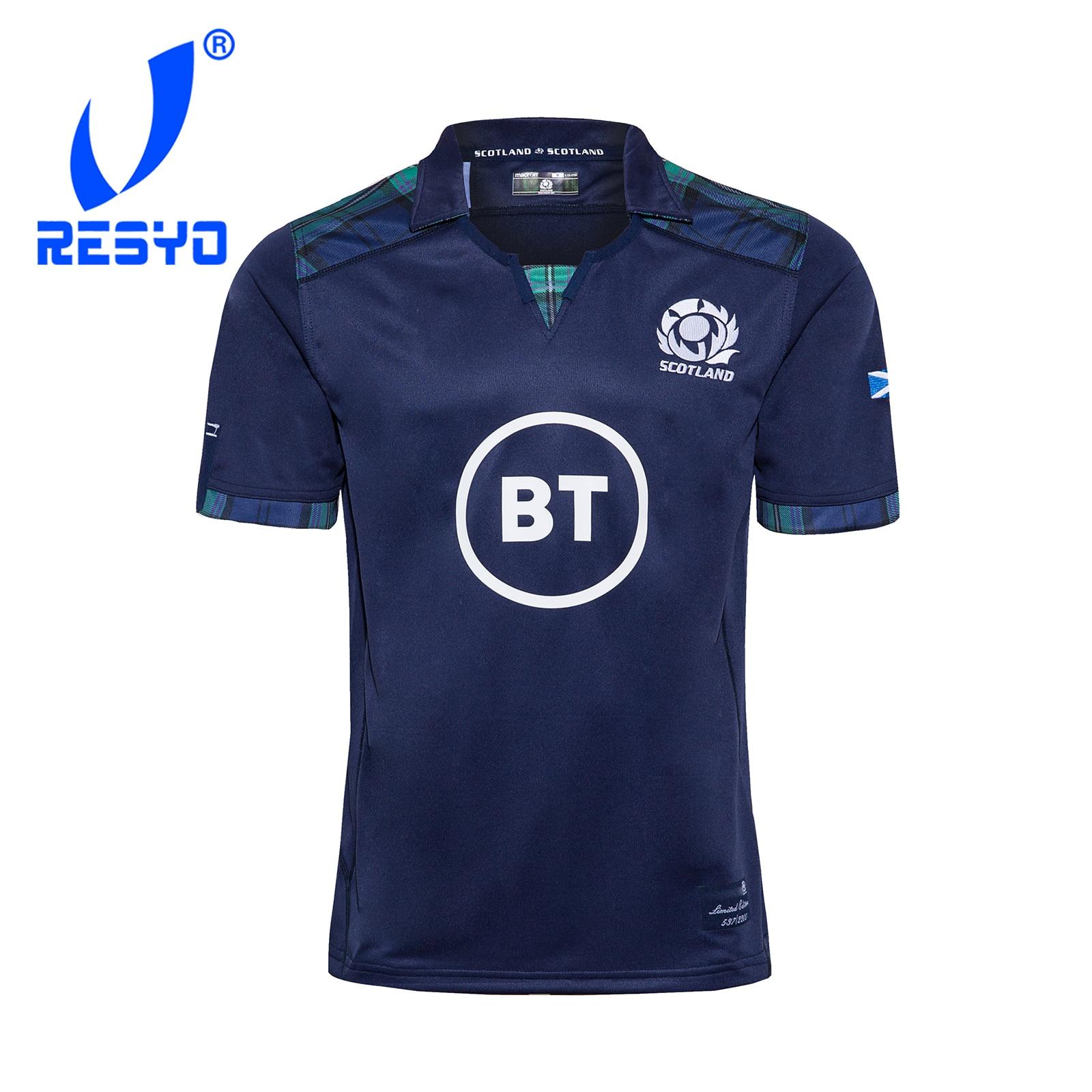RESYO para Escocia 2019/2020 casa PRO RUGBY JERSEY camisa de deporte S-5XL
