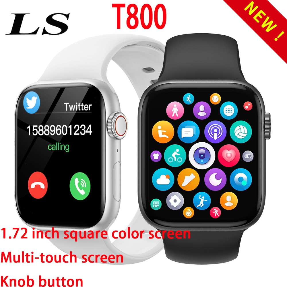 Original T800 Smartwatch 1.72 inch Bluetooth DIY custom dial knob button PK W46 IWO 13 Y68 D20 serie