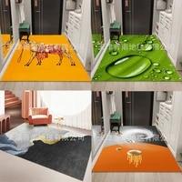 madream new living room rug fashion modern 3d realistic landscape room rugs home non slip bathroom floor mat nordic style carpet