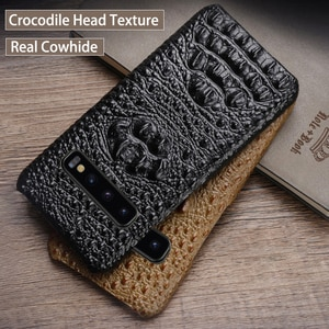 Phone Case For Samsung Galaxy A50 A70 S7 S8 S9 S10 Plus Note 8 9 10 Crocodile Head Case for A30 A40 A60 A5 A7 2017 A8 2018 case