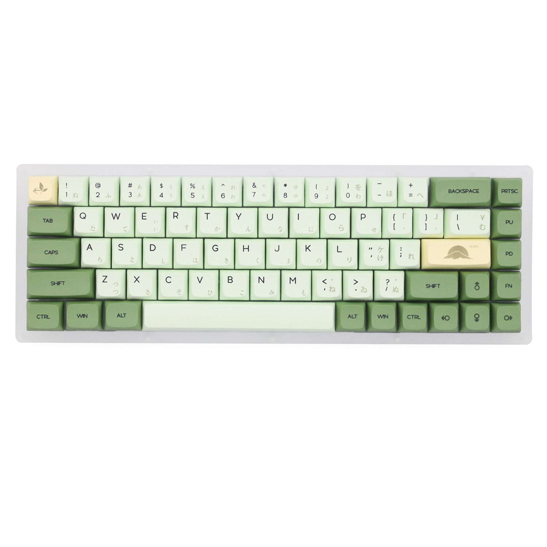 XDA V2 matcha green tea Dye Sub Keycap Set thick PBT for keyboard gh60 poker 87 tkl 104 ansi xd64 bm60 xd68 xd84 xd96 Japanese