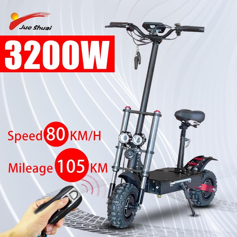 Patinete Eléctrico plegable para adultos, Scooter con Motor de 3200W, batería de...