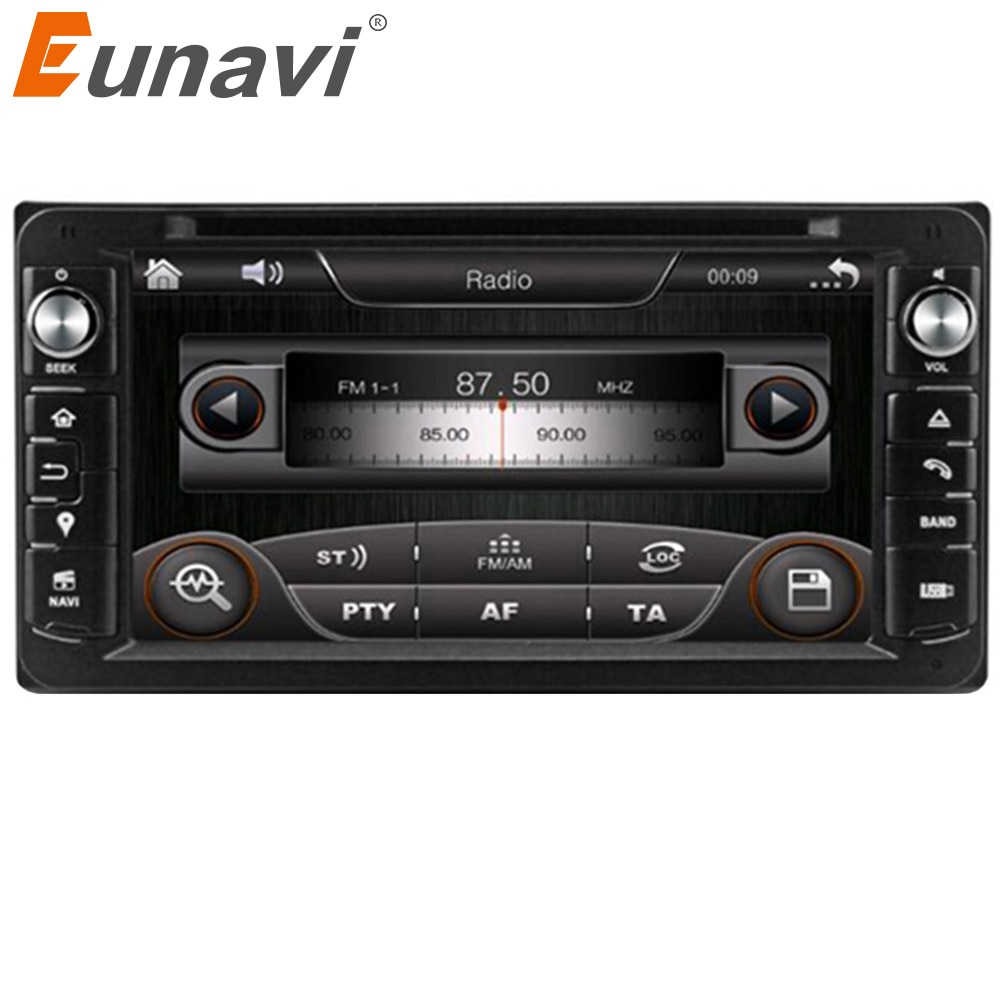 Eunavi 2 din Car DVD Radio player GPS HD For Toyota Hilux VIOS Old Camry Corolla Prado RAV4 Prado 2003 2004 2005 2006 2007 2008