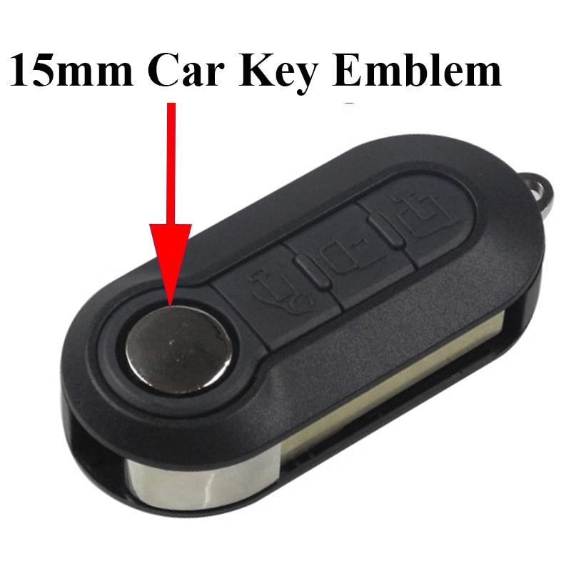 5pcs 15mm diameter Car key logo stocker