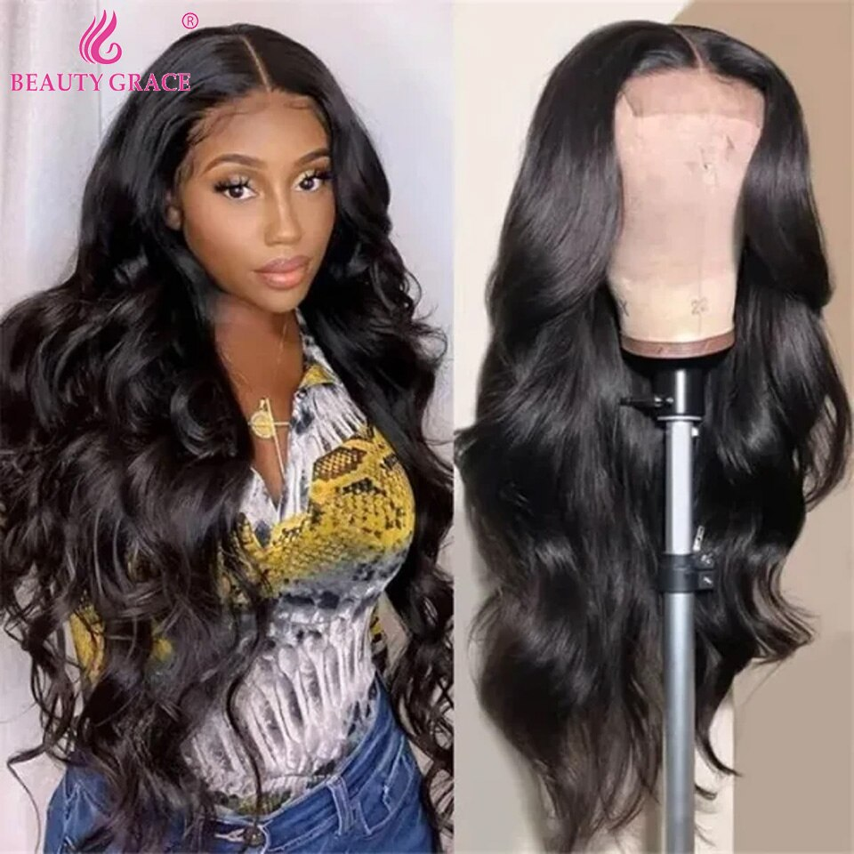 30 Inch Body Wave Lace Front Wig Transparent Lace Frontal Wigs Remy Brazilian Hair Long Wavy Body Wave Lace Front Wigs