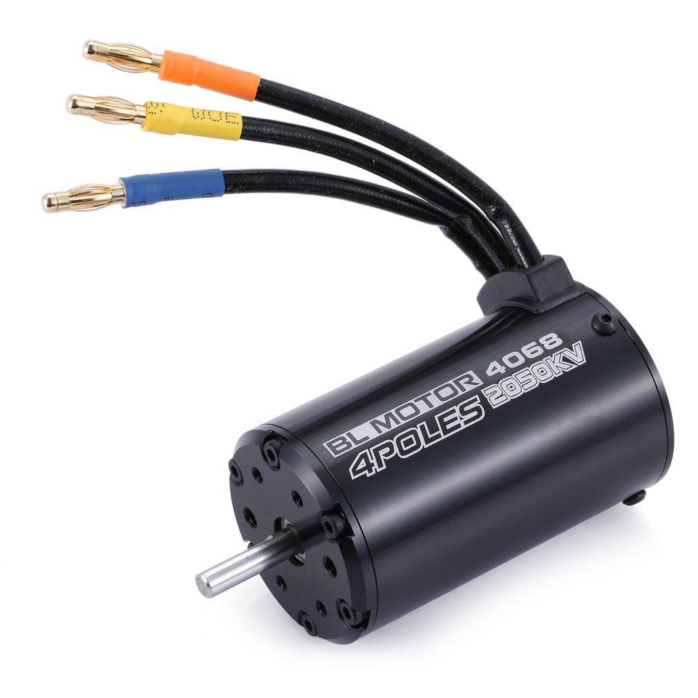 Surpass Hobby 4068 2050KV 4 Poles Sensorless Brushless Motor 120A ESC With LED Programming Card Combo Set For 1/8 RC Car Truck enlarge