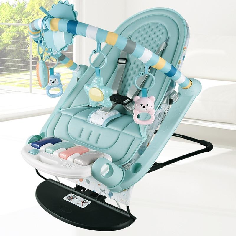 Для новорожденных Детское кресло-качалка игрушечная Беговая железная дорога для Фитнес рамка гимнастический коврик Детские Качели складн...