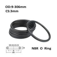 cs 3 0mm od 9306mm black nbr o ring seal gasket nitrile butadiene rubber spacer oil resistance washer round shape