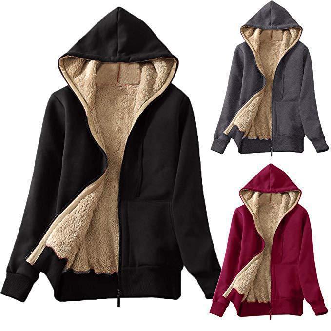 New Autumnt Zip Up Women Hooded Long Sleeve Solid Color Sweater Printed Jacke Oversized Sweatshirts Hooded Sweatshirt Girl Top