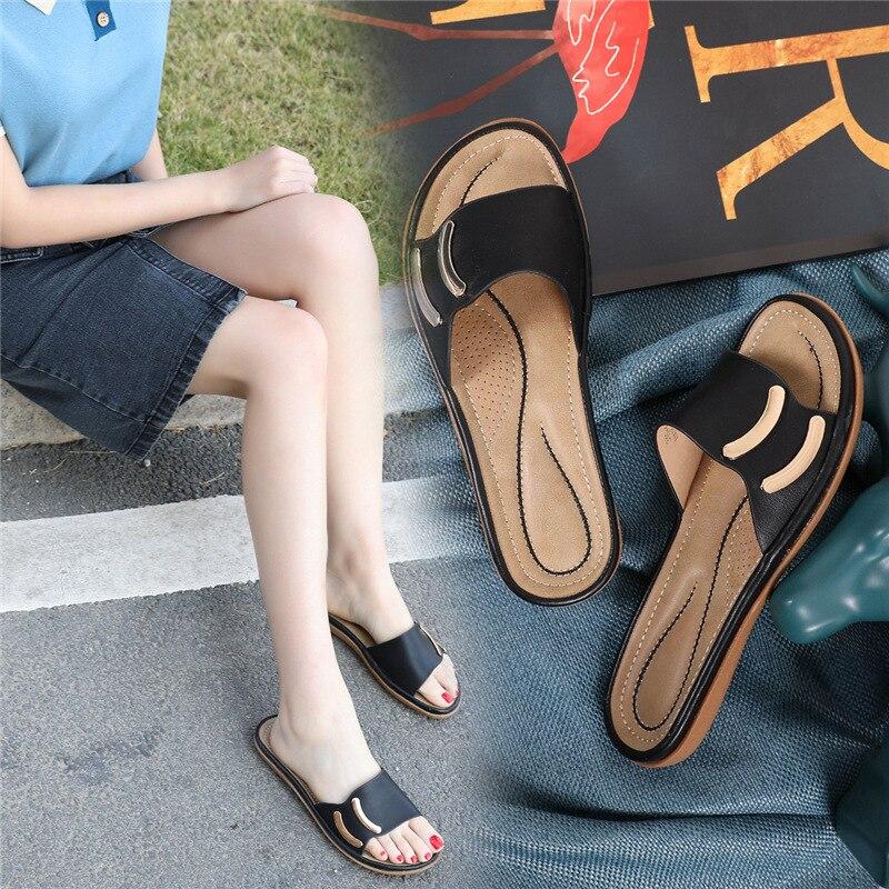2020 grande tamanho 43 chinelos mulher moda verão senhoras casual deslizamento na praia ao ar livre flip flops slides mulher interior sapatos