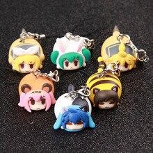 8 Teile/satz Anime Virtuelle Sänger Hatsune Q Version Prinzessin Miku Luka Action Figure Keychain Ornamente Mini PVC Modell Spielzeug Geschenke