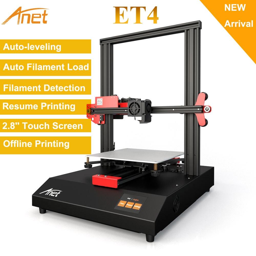 Anet ET4 3D Drucker Metall Rahmen Struktur Auto Nivellierung Lebenslauf Stromausfall Druck Filament Run Heraus Erkennung 220*220*250mm