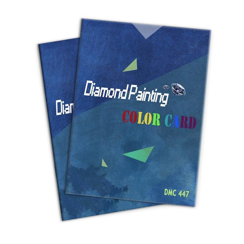 5D diamante pintura Gama Completa 447 DMC diamante Color tarjeta 100% hecho a mano punto de cruz Color tarjeta de identificación