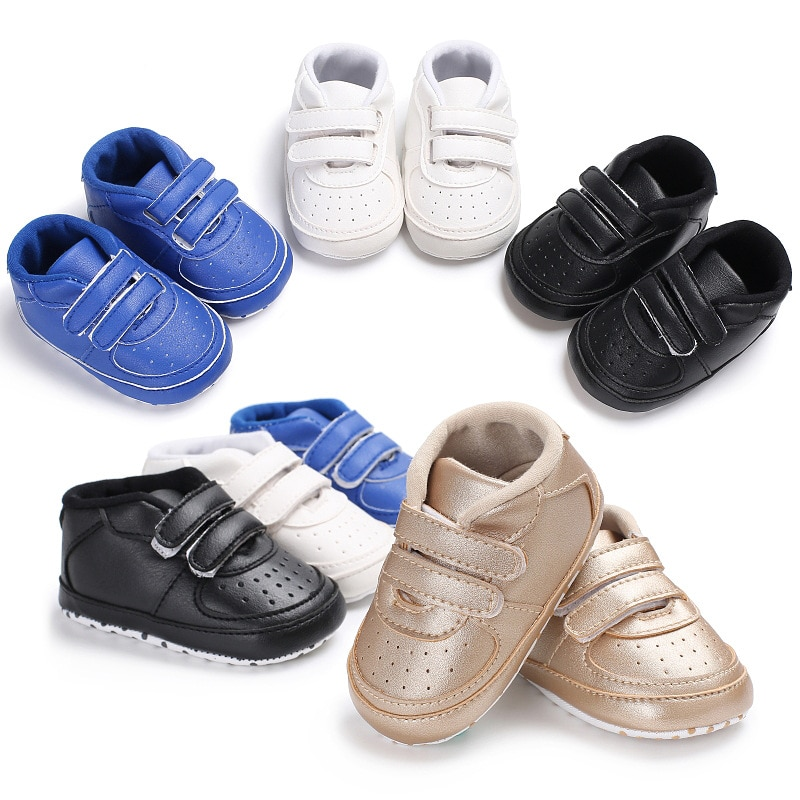 0-18M Baby Shoes Infant Kids Toddler Soft Sole Prewalker Sneakers Boy Girl Crib