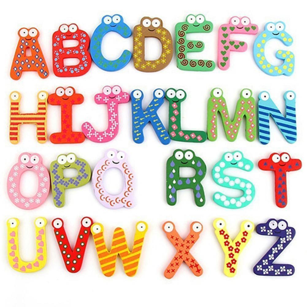 26 букв алфавита магнитные буквы A-Z деревянные магниты на холодильник Детские обучающие игрушки Алфавит магнитные буквы A-Z магниты на холоди...