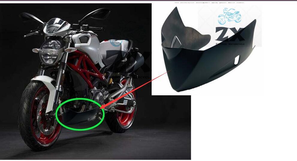 Cubierta inferior para motocicleta Ducati, carenado inferior, alerón de insectos, negro mate...