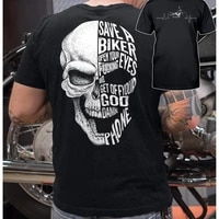 classic motorcycle save a biker t shirt
