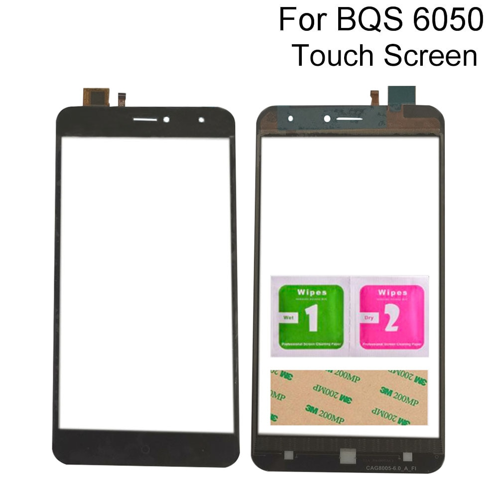 Touch Screen Digitizer Panel For BQS 6050 Touchscreen Sensor Front Glass Panel Mobile Phone Tools 3M