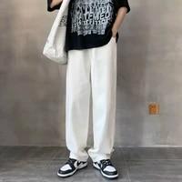 wide leg jeans mens fashion casual baggy blackbluewhite jeans men streetwear loose hip hop straight denim trousers mens m 3xl