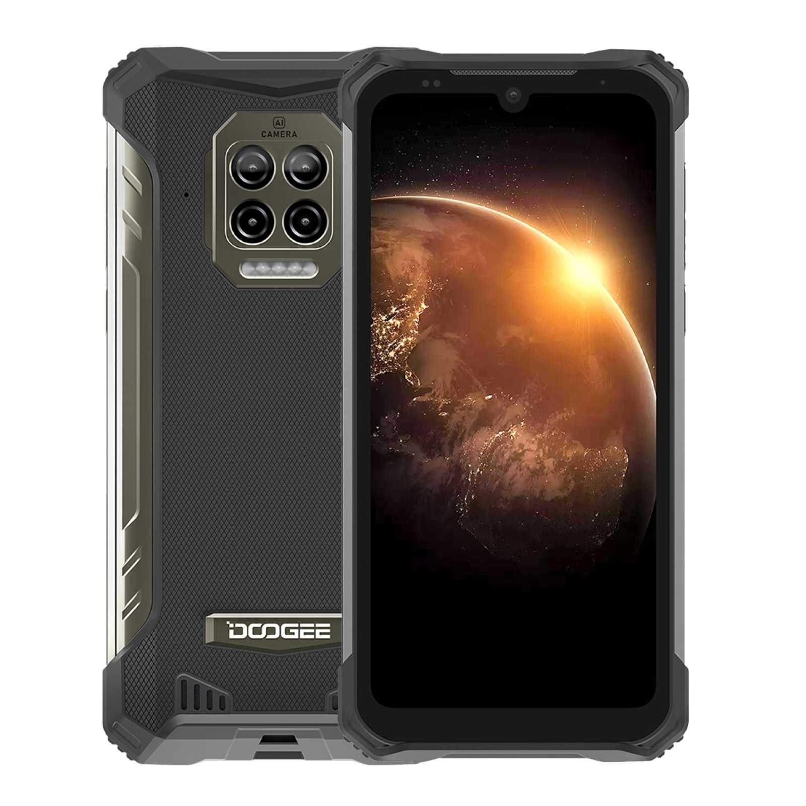 DOOGEE S86 Rugged Cellphone 6GB+128GB 8500mAh Super Battery Smartphone IP68/IP69K Mobile Phone Helio P60 Octa Core Android 10