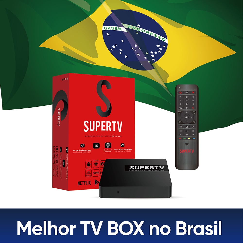 Supertv Rot Box 2G 16G Brasil IPTV Box Android TV Box Amlogic S905X Unbegrenzte TV Bos für Brasilien