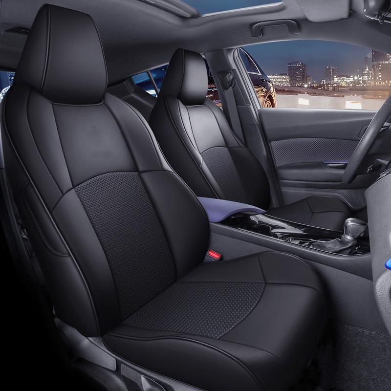 Чехлы на автомобильные сиденья под заказ для Toyota C-HR 2018 2019, интерьерные автомобильные товары, декоративные аксессуары, устройство переднего ...