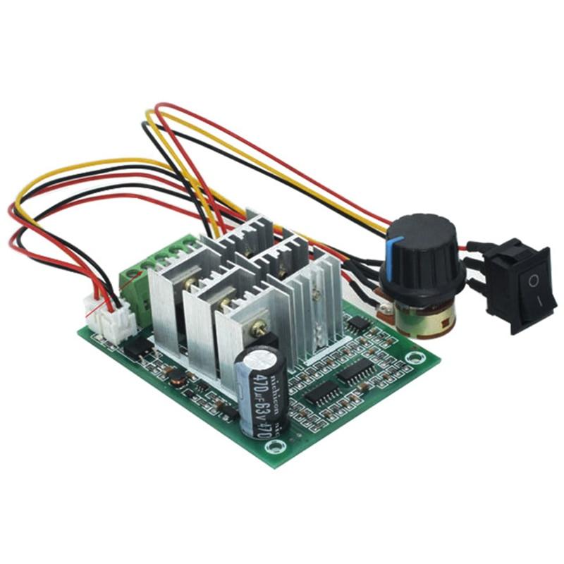 Controlador HTHL-BLDC Motor sin sensor trifásico sin escobillas BL01 150a Modulación de ventilador violento DC5V6V9V12V36V adelante y marcha atrás