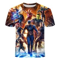 summer mens and womens clothing loose and comfortable short sleeved 3d printed t shirt cool movie character pattern