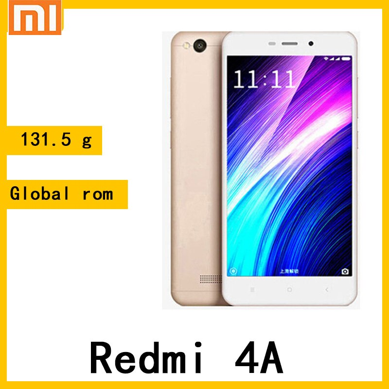 celular Redmi 4A smartphone Snapdragon 425 131.5 g ultra light 5.0 inches
